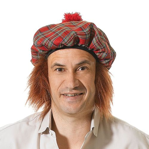Scots Tartan Hat /Ginger Hair Scottish Scot Scotland Highland Fancy Dress